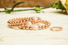 14kt Rose Gold Filled Stackable Beaded Bracelet Adorned with One Fresh Water Pearl
