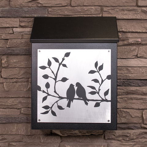 Modern wallmount mailboxes in vertical or horizontal style.