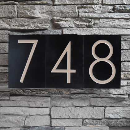 Mid Century Modern house numbers.