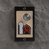 Around the Farm doorbell in black patina finish