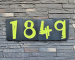 Funky House Numbers in Patina Finish