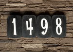 Retro House Numbers in Patina Finish