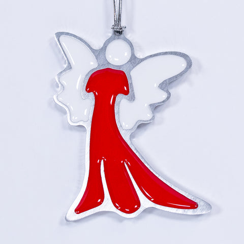 Angel Christmas Ornament Red