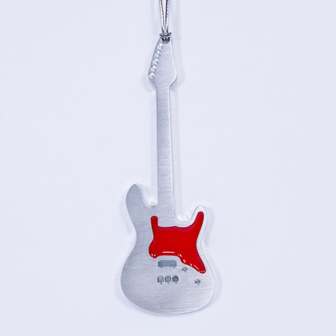 Guitar Christmas Ornament Electric Red
