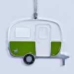 Boler Camper Christmas Ornament Green