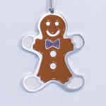 Gingerbread Christmas Ornament Purple