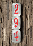 Retro House Numbers in Brushed Aluminum