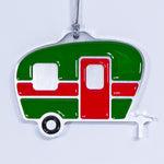 Camper Christmas Ornament Green