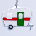 Camper Christmas Ornament White