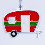 Camper Christmas Ornament Red