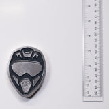 Dirt Bike Helmet Magnet Grey