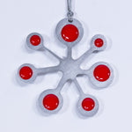 Snowflake Christmas Ornament Red