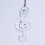 Music Christmas Ornament White