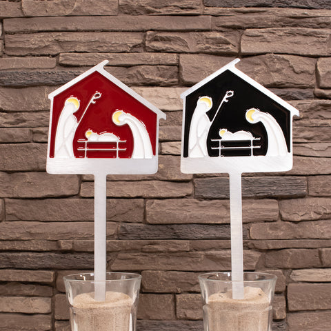 Christmas Nativity Scene Garden Art