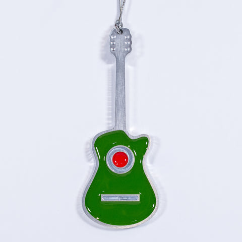 Guitar Christmas Ornament Acoustic Green
