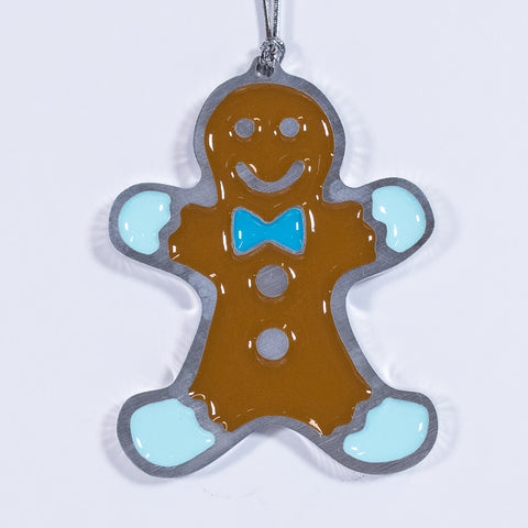 Gingerbread Christmas Ornament Blue