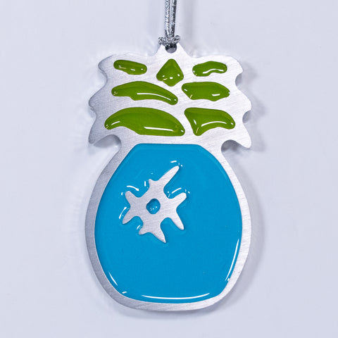 Pineapple Christmas Ornament Blue