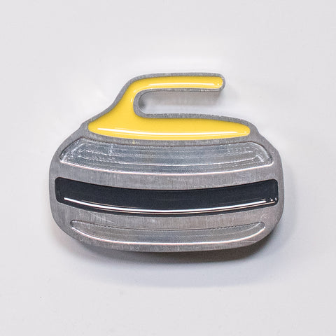 Curling Rock Magnet Yellow