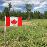 Canadian Flag Garden Art
