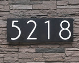 Mid Century Modern House Numbers in Patina Finish