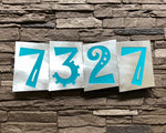 Funky House Numbers in Brushed Aluminum