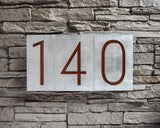 Mid Century Modern House Numbers