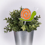 Snail Planter Poke Orange