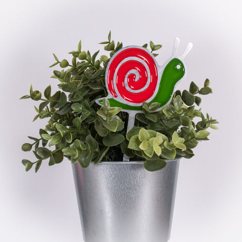 Snail Planter Poke Red