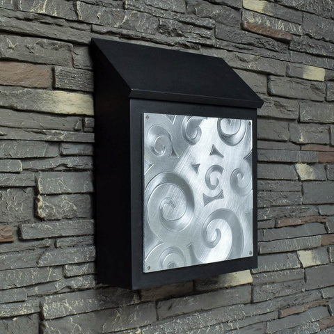 Abstract Wall Mount Spiral Mailbox
