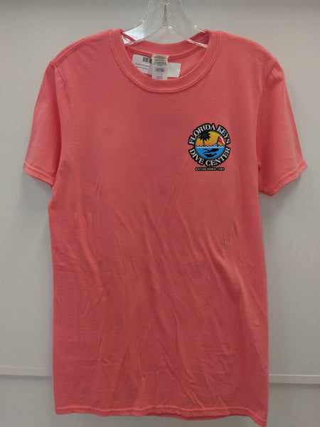Coral Silk FKDC Logo Short Sleeve Shirt