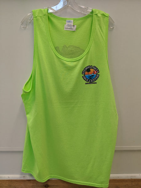 Ladies Neon Green FKDC Logo Tank Top