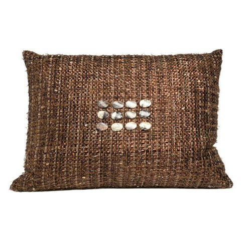 Hand-Woven Rocky Road Pillow