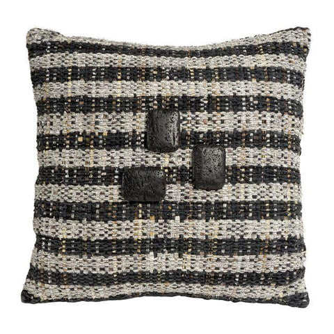 Black & Grey Hand-Woven Pillow