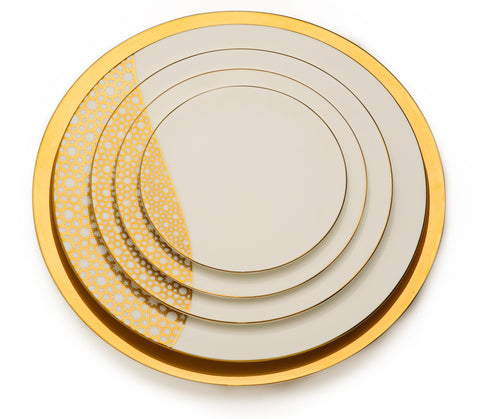 Dinner Plates, Arabesque Gold - Set of 5