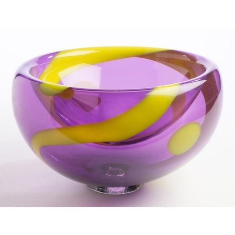 Hand Blown Bubble Glass Bowl - SMALL