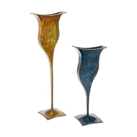 Metal Vases - Pair