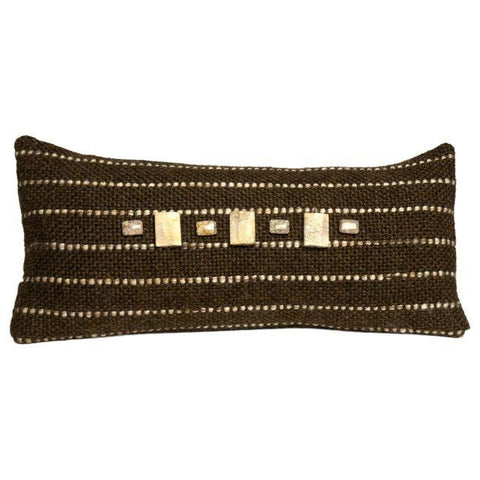 Hand-Woven Pillow, Mud and Stone #1