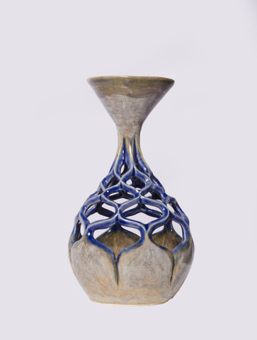 Blue Lace Vase by Scot DiStefano