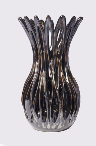 Metallic Brown Vase