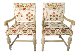 Mid Century Wooden Armchairs - A Pair