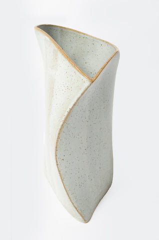 Folded Curves Ceramic Vase