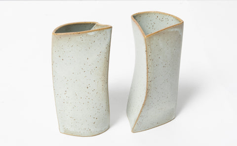 Folded Ceramic Curves (Set of 2)