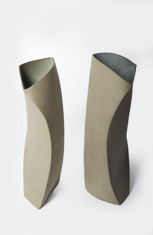 Geometric Curve Vases - (set of 2)