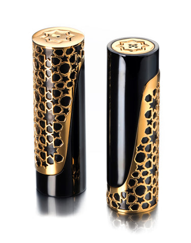 Arabesque Gold Salt & Pepper Shakers