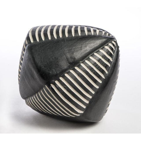 Black and White Ceramic Diamond by Larry Halvorsen