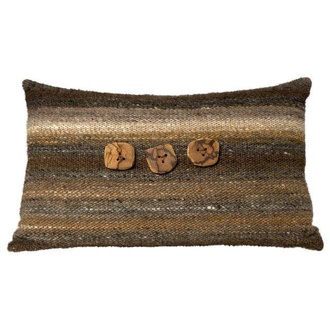 Brown Hand-Woven Pillow