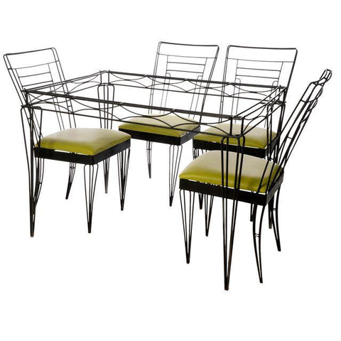 Architectural Metal Dining Set