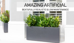 Artificial window box
