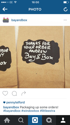 Bay and Box seed packets