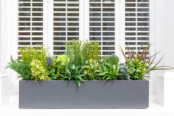 Evergreen - artificial window box